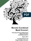 2014-05-08 Norwin Combined Band Concert Program