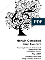2014-05-08 Norwin Combined Band Concert Program