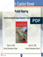 South Capitol Street DEIS Public Hearing Presentation - March 2008