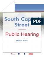 South Capitol Street DEIS Public Hearing Display Boards - March 2008