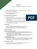 emily brown working resume