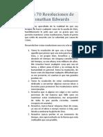 (Jonathan Edwards) Setenta Resoluciones