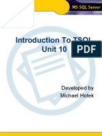 Intro to TSQL - Unit 10