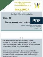 Cap40. Membranas, Estructura y Función_Daniela Preciado