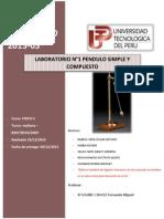 Oficial INFORME N1 - Fisica - Pendulo Simple y Compuesto