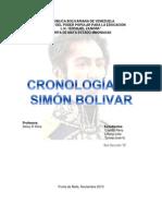 Cronologia de Simon Bolivar