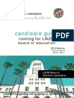 Candidate Guide LAUSD City Ethics Commission 2013