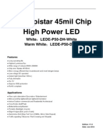50W Epistar 45mil Chip High Power LED