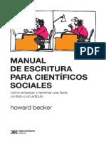 Manual de Escritura Para Cientificos Sociales