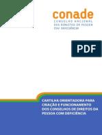 CARTILHA ORIENTADORA PARA Criação Dos Conselhos Municipais Da Pessoa Com Deficiência
