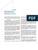 Decreto 2293-92 - (Matricula Unica).pdf