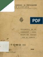 Reglamento de Organizacion y Preparacion Del Terreno Para El Combate_t3_1928