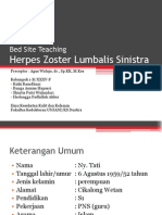 Bed Site Teaching Herpes Zoster