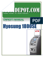 Hyosung 1800SE ATM Machine Owners Manual