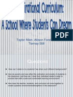 the aspirational curriculum - edl 318 - dianne suiter