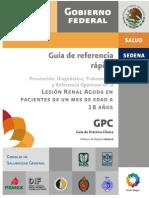 Lesión Renal Aguda Pediatría