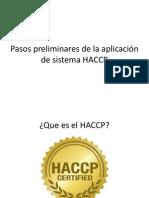 Pasos Preliminares Para Haccp