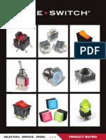 E-Switch Product Matrix