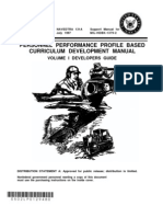 NAVEDTRA 131A1 Personnel Performance Profile Based Curriculum Development Manual Vol I Developers Guide