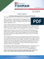 Detroit Mayor Mike Duggan Endorses Ryan Fishman in 13th Senate Bid