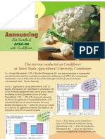 Test Results of Apsa on Cauliflower