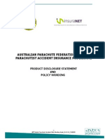 APF Student PAI Product Disclosure and Policy Wording