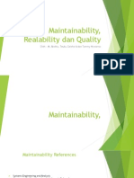 Kelompok 2 - Maintainability, Realability Dan Quality