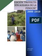 Evaluación Proyecto Revolución Agraria FENOCIN