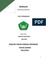 MAKALAH Auc Tetrasiklin PDF
