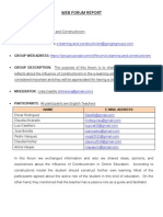 web forum report