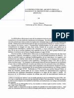 Sobre La Construcción Del Archivo Criollo