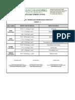 Jadual peperiksaan Pertengahan Tahun 1 (2014)