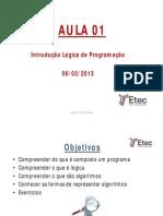 Aula01- Introdução a Lógica de Programação