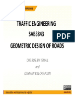 Geometric Design of Roads