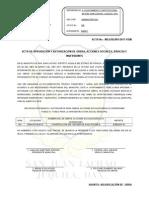 Acta Aprobación y Autorización de Obras, Acciones Sociales