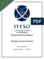 Reporte de Soldadura