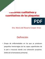 Trastornos Cualitativos y Cuantitativos de Las Plaquetas[1]