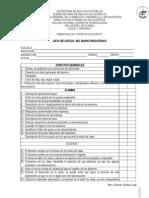 Lista de Cotejo Diario Pedagógico