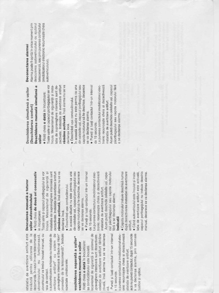 Manual de Utilizare Passat B5