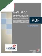 Manual de Procedimientos de Ofimatica III - II Parcial