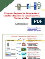 Antecedentes Cambio Climatico en Guatemala -MARN- 2007