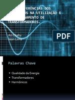 As Interferências Dos Harmônicos Na Utilização e Dimensionamento