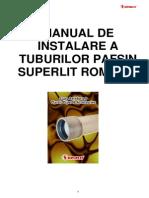 Instructiuni de Instalare Tuburi Pafsin Superlit Romania [2010]