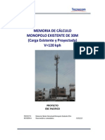 MEMORIA DE C+üLCULO MONOPOLO 30M - EBC PACIFICO - 120KMH
