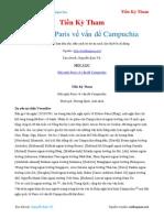 Hội Nghị Paris Về Vấn Đề Campuchia - Tiền Kỳ Tham