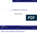 Method of Frobenius ode