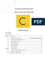 Dissertation_Capital Structure and Firm Performance