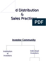 Fund Distribution & Sales Practices