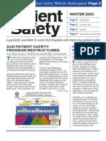 PSC Newsletter 2003 Winter
