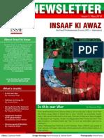 "IPF Newsletter ""Insaf Ki Awaz"""